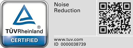 TÜV Rheinland-keurmerk Noise Reduction